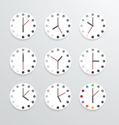 Clock flat icon app vector