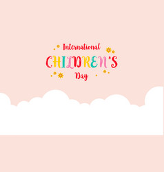 Collection of childrens day colorful background vector
