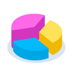 colorful pie chart for vector image