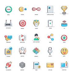 Conceptual flat icons set vector