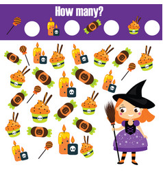 counting educational children game study math vector image