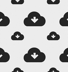 Download from cloud icon sign Seamless pattern vector image
