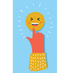 emoticon pointing at you vector image