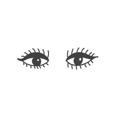 eyes with long eyelashes and eyeliner t-shirt vector image
