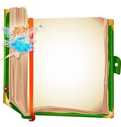 Fairy book vector