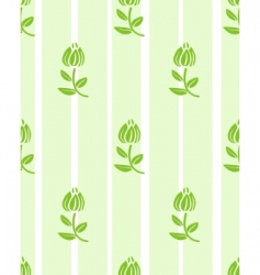 floral light green floral wallpaper vector image
