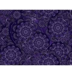 flower paisley seamless blue pattern vector image