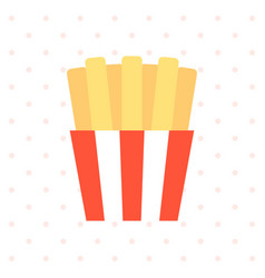 french fried with background flat design vector image