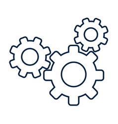 gears machinery working vector image