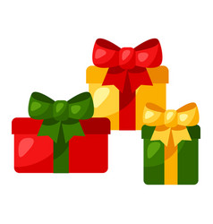 gift boxes with bow vector image