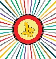Glove background vector