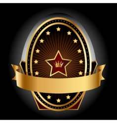 gold insignia vector image