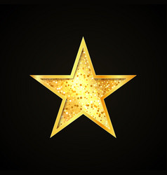 gold star icon single design decorative element vector image