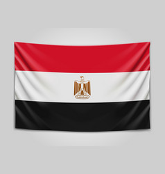 hanging flag of egypt arab republic of egypt vector image