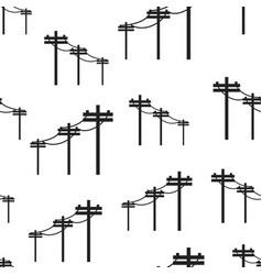 high voltage power lines seamless pattern vector image