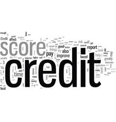 How to improve credit score vector