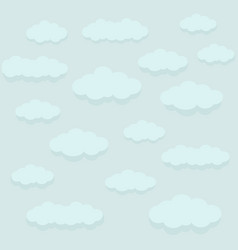 Icons clouds clouds in the sky on a blue vector