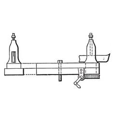 Lathe turning astragals vintage vector