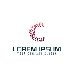 letter c internet logo design concept template vector image