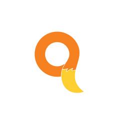 letter q loop pet tail logo vector image