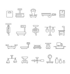 libra or scales balance and weight measurement vector image