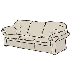 light comfortable sofa vector image