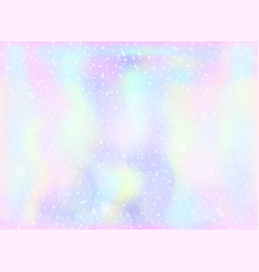Magic fairy and unicorn background with light vector