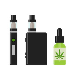 Marijuana cannabis liquid for vaping vector