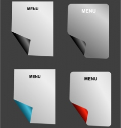 Menu sheet vector