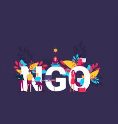 Ngo non-governmental organization concept vector