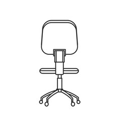 office chair work image outline vector image