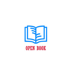 open book education design concept vector image