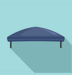 Outdoor blue tent icon flat style vector