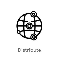 Outline distribute icon isolated black simple vector