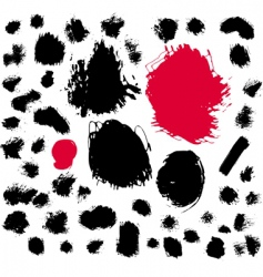 paint brush spots vector image