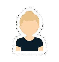 Portrait woman female icon vector