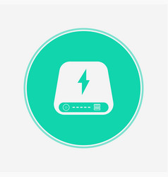 power bank icon sign symbol vector image