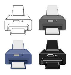 Printer icon in cartoon style isolated on white vector