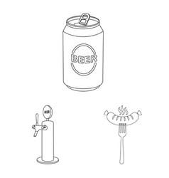Pub and bar logo vector