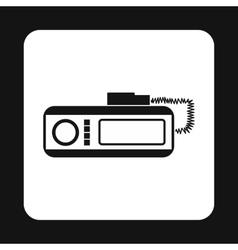 Radio taxi icon simple style vector image