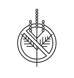 Ragweed prohibition minimalist linear logo sign vector