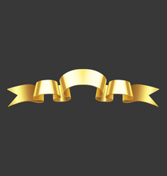 realistic gold banner golden horizontal vector image
