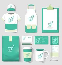 Restaurant cafe set flyer menu package t-shirt cap vector