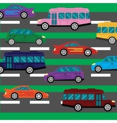 Road collapse and traffic jams background with vector