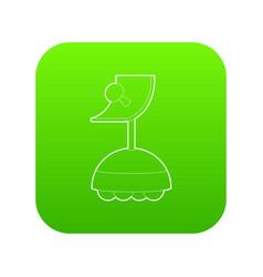 robot antenna icon green vector image