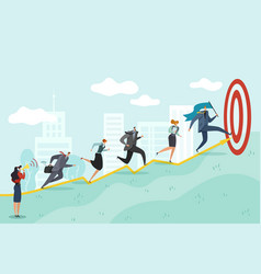 running to target business persons racing to vector image