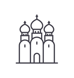 Russian orthodox church line icon sign vector