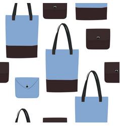 Seamless blue bag pattern vector