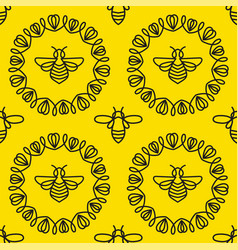 seamless pattern with bee vector image