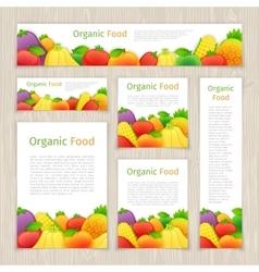 Set of Organic Food Banners vector image